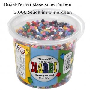 Bügelperlen im Eimerchen, 5000 Stück Farbe Klassik  Fünf-Tausend bunte Bügelperlen - 5mm - Handarbeit kaufen