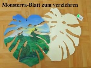 Monsterra-Blatt aus Holz zum anmalen Hängedeko zum Verziehren tolle Wohndeko - Handarbeit kaufen