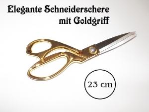 Schneider-Schere Textil-Schere Stoff-Schere 23 cm (klein)  mit goldenem Griff - Handarbeit kaufen