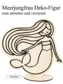 Meerjungfrau Deko-Figur zum anmalen und verzieren Holzfigur mit Standfuß 18 cm - Handarbeit kaufen