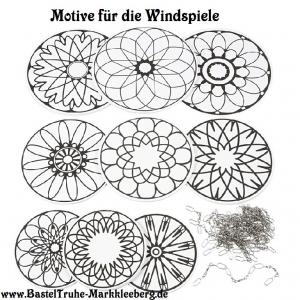 Windspiel für Kinder Mandala Mobile zum ausmalen und dekorieren Kinderzimmer Deckenhänger - Handarbeit kaufen