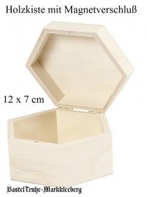Holzschachtel mit Deckel, Geschenkbox Wabenform Hexagon zum gestalten und verzieren - Handarbeit kaufen