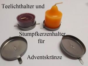 Teelichthalter Kerzenhalterung für selbst gebastelte Weihnachts-Kränze und Gestecke - Handarbeit kaufen