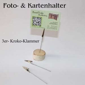 Kartenhalter Fotohalter Notiz-Zettelhalter 3er-Pack, in 3 Motiven  - Handarbeit kaufen