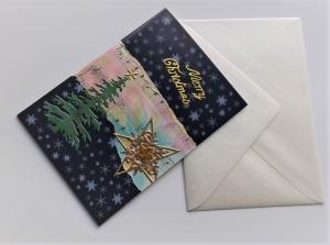 "Weihnachtskarte mit Notenblatt ""Merry Christmas"""