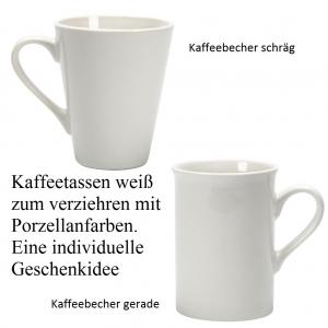 Porzellan-Tasse oder Porzellan-Becher für Glas- und Porzellanfarben Glasfarben Glasmalfarbe  - Handarbeit kaufen