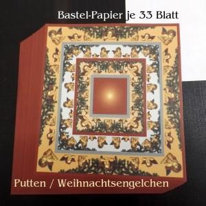Faltpapier für Baskettasterne Origami Papierbasteln Putten & Engel Weihnachten