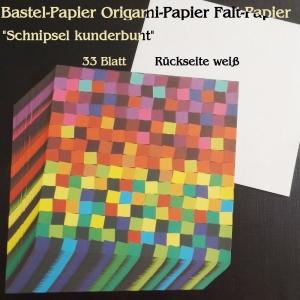 Faltpapier für Basketta-Sterne Origami-Papier Schnipsel kunderbunt Bastel-Papier