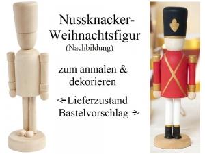 Nussknacker-Figur zum anmalen, Weihnachtsfigur Weihnachtsdeko zum verzieren Winter Weihnachten Dekoration