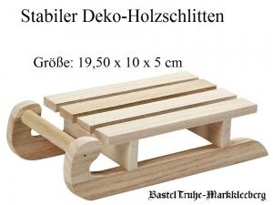 Deko- Schlitten Weihnachts-Schlitten zum dekorieren unbehandeltes Holz zum verzieren