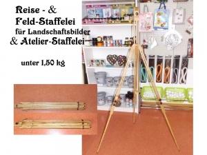 Staffelei fürs Atelier oder Reise, Leicht & klappbar, Platzsparend, Stufenlos einstellbar Malerei, Kunst, Bild, - Handarbeit kaufen