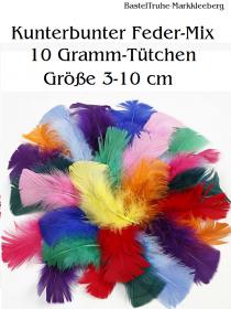 Kunterbunter Feder-Mix 10 Gramm Truthahn-Federn gefärbt 3-10 cm BastelTruhe Markkleeberg - Handarbeit kaufen