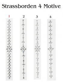 Strass-Stein-Borde  Variante 1 für Glückwunschkarten, Dekoration auf Möbel u.v.m BastelTruhe Markkleeberg - Handarbeit kaufen