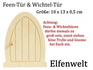 Elfenwelt Elfentüre, Wichteltür, Feentür Gartentür aus unbehandeltem Holz zum anmalen & verzieren