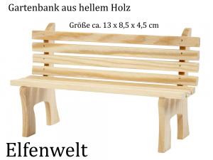 Elfenwelt Gartenbank Minimöbel für Elfen, Feen & Wichtel zum anmalen & verzieren aus Holz
