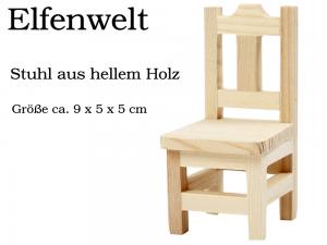 Elfenwelt Stuhl Landhaus-Stil Minimöbel für Elfen & Wichtel Puppenstuben-Möbel aus Holz