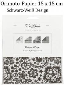 Origami-Papier schwarz/Weis Design 50 Blatt beidseitig bedruckt Papierfalten Faltkunst Falten - Handarbeit kaufen