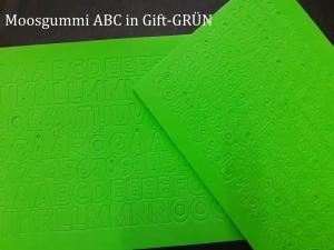 Moosgummi ABC & Zahlen -- Gift-GRÜN-- selbstklebend Groß- & Kleinbuchstaben Personalisieren Dekorieren - Handarbeit kaufen