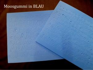 Moosgummi ABC & Zahlen -- BLAU-- selbstklebend Groß- & Kleinbuchstaben Personalisieren Dekorieren - Handarbeit kaufen