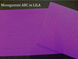 Moosgummi ABC & Zahlen -- LILA -- selbstklebend Groß- & Kleinbuchstaben Personalisieren Dekorieren - Handarbeit kaufen