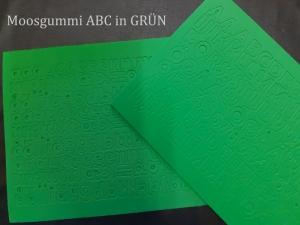 Moosgummi ABC & Zahlen -- Grün -- selbstklebend Groß- & Kleinbuchstaben Personalisieren Dekorieren - Handarbeit kaufen
