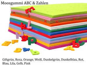 Moosgummi ABC & Zahlen -- Braun -- selbstklebend Groß- & Kleinbuchstaben Personalisieren Dekorieren - Handarbeit kaufen