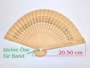 Holz-Fächer zum anmalen, bekleben und dekorieren, Naturfarben ca. 20 cm Handfächer  - Handarbeit kaufen