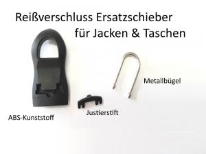 Reißverschluss Ersatzschieber Ersatzgriff Reparatur-Set Zipper Schiebegriff schwarz 25mm - Handarbeit kaufen