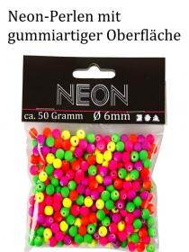 leuchtende Acryl-Neonperlen für Kinder super bunt ca. 6mm groß für Armbänder, Ketten und mehr - Handarbeit kaufen