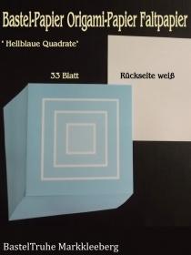 Faltpapier für Basketta-Sterne Origami-Papier Bastel-Papier Hellblaue Quadrate 33 Bögen 15 x15 cm - Handarbeit kaufen