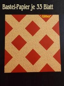 Faltpapier für Basketta-Sterne Origami-Papier Bastel-Papier Gitter 33 Bögen 15 x15 cm - Handarbeit kaufen