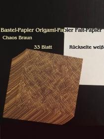 Faltpapier für Basketta-Sterne Origami-Papier Bastel-Papier Chaos Braun 33 Bögen 15 x15 cm - Handarbeit kaufen