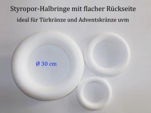 Styropor - Kranz Ø 30 cm Styroporkranz zum verzieren für Pailletten-Technik, Servietten-Technik Naturmaterialien u.m - Handarbeit kaufen