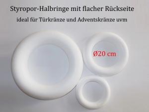 Styropor - Kranz Ø 20 cm Styroporkranz zum verzieren für Pailletten-Technik, Servietten-Technik Naturmaterialien u.m  - Handarbeit kaufen