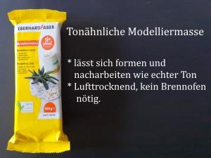 Lufttrocknende Modelliermasse Tonähnlich Lufthärtend Weiß, 500 g für Kinder & Erwachsene - Handarbeit kaufen