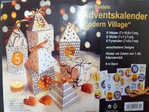 Adventskalender zum zusammen bauen, Weihnachtskalender-Set, 24 Schachtel-Set mit Dekorationen - Handarbeit kaufen