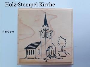 Holz-Stempel Kirche, Kapelle Hochzeit, Weihnachten, Taufen Glückwunschkarte - Handarbeit kaufen