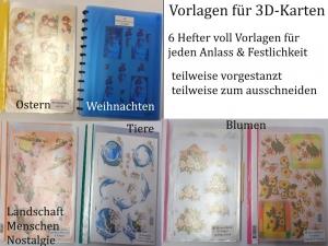 3D-Vorlagen für Glückwunschkarten Weihnachtskarten, bunte Motive, Auflösung einer großen Bastel-Sammlung Bastelset - Handarbeit kaufen
