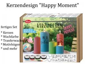 "Kerzendesign – Inka Silk-Set ""Happy Moments"", Kerzen gestalten -> Komplett-Set inkl. Kerzen Inka Silkfarben & mehr - Handarbeit kaufen"