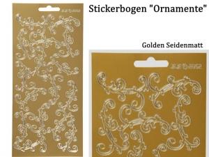 Sticker für Karten, Konturensticker Motiv-> Ornamente, Golden matt, Papierbasteln, Aufkleber Kartengestaltung - Handarbeit kaufen