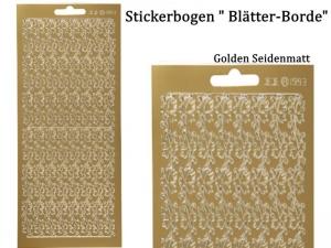 Sticker für Karten, Konturensticker Motiv-> Blätter-Borde, Golden oder Silbern, Papierbasteln, Aufkleber Kartengestaltung - Handarbeit kaufen