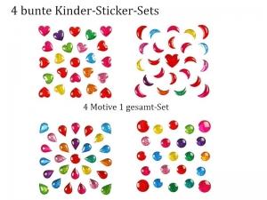 Sticker für Karten, 3D-Motive -> 4er-Set Formen, Papierbasteln, Aufkleber Kartengestaltung Kinder-basteln