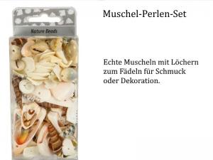 echte Muscheln, Muschel-Perlen zum fädeln, Schmuckherstellung, Natur, Stand, Meer, Ozean, Armband, Ketten  - Handarbeit kaufen