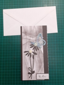 Beileidskarte, Trauerkarte mit Umschlag, Trauer, Verstorben, Beileid  Anteilnahme, Kondolenz Abschied - Handarbeit kaufen