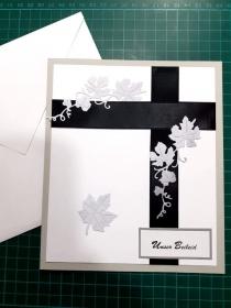 Beileidskarte, Trauerkarte mit Umschlag, Trauer, Verstorben, Beileid  Anteilnahme, Kondolenz Abschied
