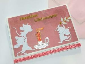 Glückwunschkarte für Mädchen, Kinder, Geburtstag, Schuleinführung o.ä Herzlichen Glückwunsch  Handarbeit Unikat
