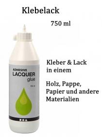 Klebelack, ein Allrounder kleben & leimen, 2 in 1, 750 ml, Wasserbasierend, Glänzender Lack