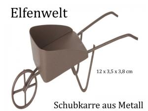 Elfenwelt Schubkarre, Minimöbel für Elfenlandschaft Puppenstuben Fairy Garden