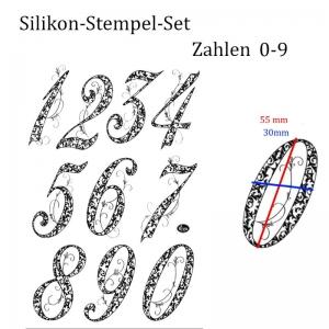 Silikonstempel, Clear-Stamper, transparent, große Zahlen 0-9, Stempel-Set, My Paper World Viva Decor - Handarbeit kaufen