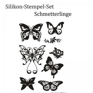 Silikonstempel, Clear-Stamper, transparent, Schmetterlinge, Stempel-Set